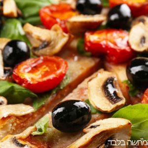 נגרו אוליבייה-פיצה בתוספת זיתים שחורים